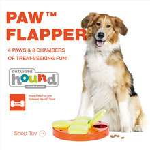 Kyjen Pet Supplies Outward Hound Dog Puppy Kitten Paw Flapper Hide-And-Seek Treat Scent Puzzle Training Toy Dog Games(China)
