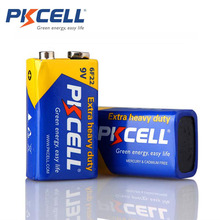 2 square battery parts pkcell 9 v batteries 6F22 Single-sex dry battery zinc carbon battery