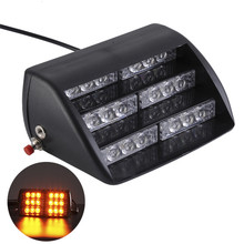 1 x 18 LEDs Emergency Vehicle Yellow Light Strobe Lights Windshields Dashboard Flash Warning for Truck Ambulance SUV