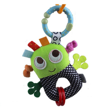 15cm Soft Plush small robots Bed hanging Bell rubber ring pip boy stroller teethers toys Baby Toys For Kids Gift
