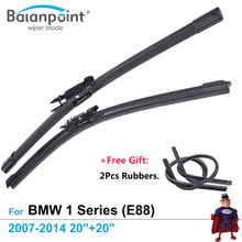 "2Pcs Wiper Blades + 2Pcs Free Rubbers for BMW 1 Series (E88) Convertible 2007-2014 20""+20"", Best Auto Accessories(China)"