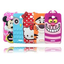 For Sony E4 Cartoon Stitch Hello Kitty Minnie Mouse Pig 3D Silicone Mobile Phone Bags Case Cover For Sony Xperia E4