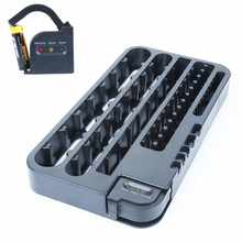 72 Battery Caddy Storage Plastic Holder Slot Rack Organizer Box Case Removable Tester For AAA AA D C 9-Volt Button Cell battery(China)