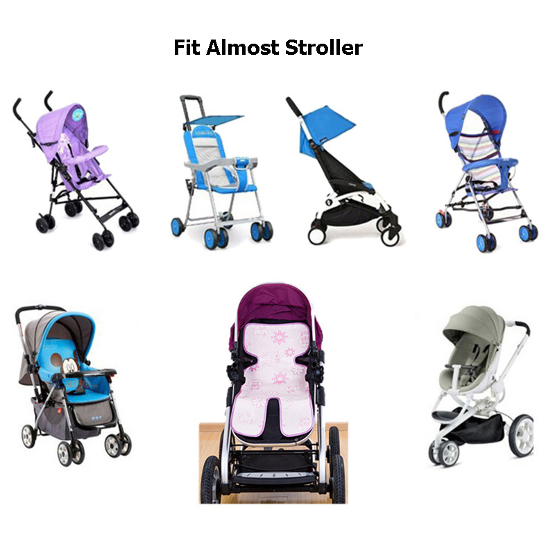 2018 Cool Baby Stroller Mat Breathable Soft Cotton Cushion Toddler Pram Pad Easy Install Car Cushion Stroller Accessories BB3095 (5)
