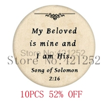 Bible my beloved is mine and i am his Glass Photo cabochon necklace keyring bookmark cufflink earring
