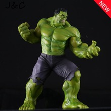 Free Shipping New PVC 10'' Big Marvel Avengers Hulk Action Figure Collectable Model Muscle Man Superman Crazy Toy Top Grade Gift