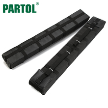 "Partol 33"" Universal Auto Soft Car Roof Rack Cross bars 80kg Loading Ski Bike Carrier Fit SUV Cars Without Side Rails Removable(China)"