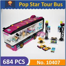 BELA 10407 Compatible with Legoes Friends Pop Star Tour Bus 41106 Building Block Figure Educational Toys For Children(China)