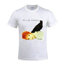 Gildan Fashion T-shirts Mylene Farmer Lautre Funny Soft O Tee Shirts For Mens