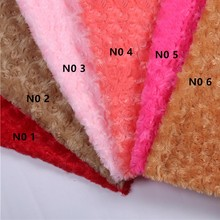 Big Sale, ROSE/ROSETTE SWIRL MINKY FABRIC CUDDLE VELBOA - PV plush fabric, 160cm width Sold by the meter FREE SHIPPING(China)