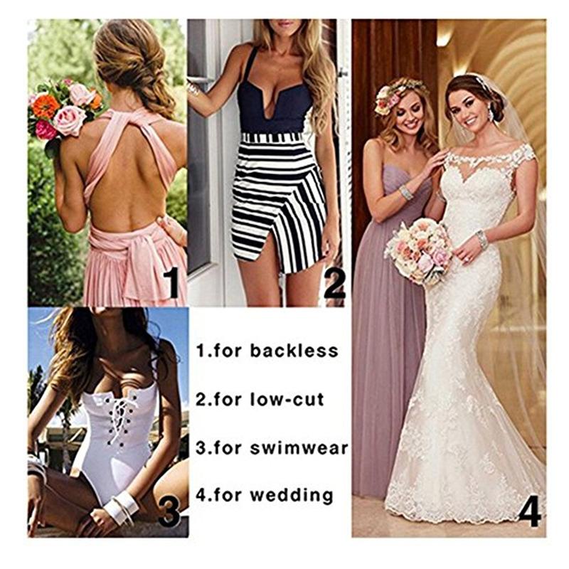 Burvogue Invisible Bra Sexy Strapless Seamless Push Up Bra for Women Underwear Bride Lace Self Adhesive Bras Wedding Brassiere 13