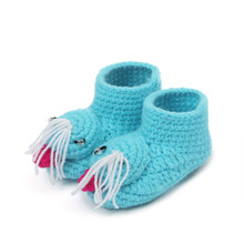 2017 New Fashion brand Children Baby shoes slippers Crochet Handmade Knit High-top tmall Kids First Walkers For Girl Boy(China)