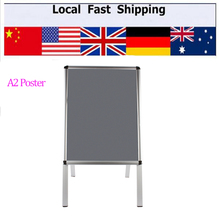 A2 A-Board Pavement Sign Poster Snap Frame Display Stand Shop Advertising Board