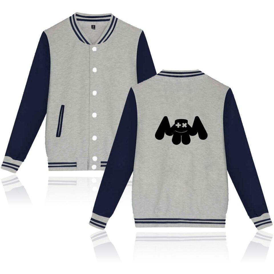 0a6afb82f Marshmello Jacket Print DIY Custom Logo Baseball Jackets Coat ...