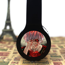 MLLSE Anime Tokyo Ghoul Custom Logo Headphones Gaming Headset Stereo Headphones with Microphone for Iphone Samsung Mp3 PC Gift