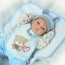 hot sale solid silicone reborn baby dolls wholesale lifelike baby soft dolls fashion doll Christmas gift new year gift child(China)