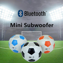 Mini PU Leather Football portable Music player Bluetooth speaker Good Subwoofer Home theater audio 600mAh Hands calling wireless