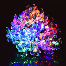 Solar Garden Light Cherry Pendant LED Solar String Lights Outdoor Garden Christmas Party Festival Decorative Lighting 7M 50leds