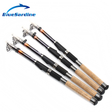 BlueSardine Telescopic Fishing Rods Carbon Spinning Rod Sea Fishing Tackle Feeder 2.1 2.4 2.7 3.0 3.6