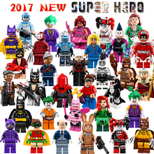 2017 Batman Movie Super Heroes Robin Catwoman Joker Harley Quinn Building Glam Metal Batman Block Figures Toys Children Gift