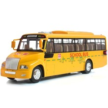 Alloy model car toy yellow big nose school bus big car model(China)