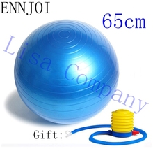 ENNJOI 65cm 4 Colours Anti-slip High Quality Pilates Yoga Ball Smooth Balance Fitness Gym Exercise Ball With Free Pump