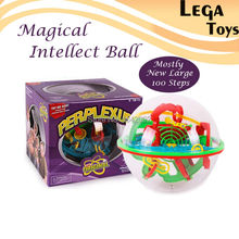 Large 100 Steps 3D Magic Intellect Maze Ball Track Puzzle Toy Perplexus Epic Game Children Adult Magnetic Balls Toys for Kids(China)