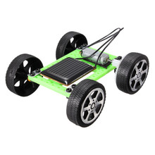 Mini Solar Powered Toy DIY Assembly Car Kit Children Gift Educational Puzzle IQ Gadget Hobby Robot Newest 8x7.5x3.2 cm