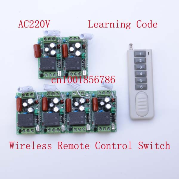AC 220V 10A 1CH RF 1000W Wireless Remote Control Switch and Controller System For Smart/Intelligent Home light/LED<br>
