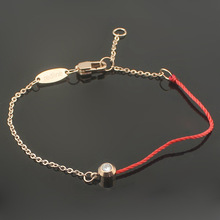 316L stainless steel one stone with lucky redline bracelets for women girls best birthday gifts(China)