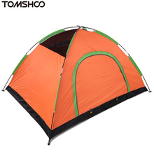 TOMSHOO Waterproof UV Outdoor Hiking Tents Double Layer Double Door Camping Tent Pack with Carrying Bag for Outdoor Camping