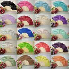 130pcs Wedding Personalized Silk Fan Cloth Wedding Favor Gift Hand Folding Fans +Customized Printing+DHL Free Shipping