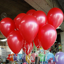 Red 100pcs/Lot 10inch 1.2g  Latex Helium Party Air Balloon/Baloon Inflatable Toy Birthday/Wedding Supply Christmas Decoration