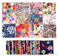 Pack of Different Pattern Polyester Patchwork Fabric Bundle Squares Sewing Art Craft Bag Quilting DIY Bag Doll Clothing(China)