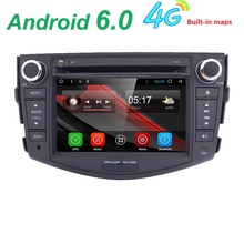 Android6.0 Quad core 2 din Car DVD for Toyota Rav4 RAV 4 Car Radio DVD Player 4G WIFI Bluetooth GPS Navigation Radio SWC DVR DAB(China)