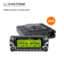 Zastone D9000 50W Car Walkie Talkie 50km Car Radio Transmitter VHF UHF 136-174&400-520MHz HF Transceiver 50 km Communicator(China)