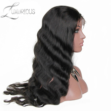 Luxurious Body Wave Lace Front Human Hair Wigs For Black Women Pre Plucked Brazilian Remy Hair With Baby Hair Bleached Knots(China)