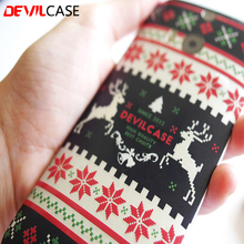 DEVILCASE Xmas Series Back Sticker For HTC One M8 / M9 / M9+ / A9 Dreaming Santa Claus Reindeer Dawn Painting Decal For Mobile