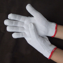 Bleach line cotton gloves workplace working safety gloves classic work gloves free size for all G0405(China)