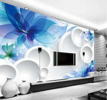 Solid 3D non-woven wallpaper living room TV background wall paper bedroom seamless large murals of the butterfly flower