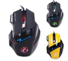 wholesale high quality 3200DPI 6 Button LED Optical USB Wired Gaming Mouse Mice computer mouse For Pro Gamer