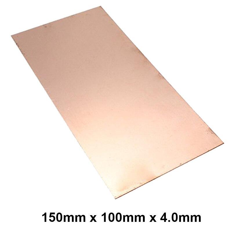Premium T2 99.9% 150x100x4.0mm Copper Shim sheet Heatsink thermal Pad for Laptop GPU CPU VGA Chip RAM  and LED Copper Heat sink<br>