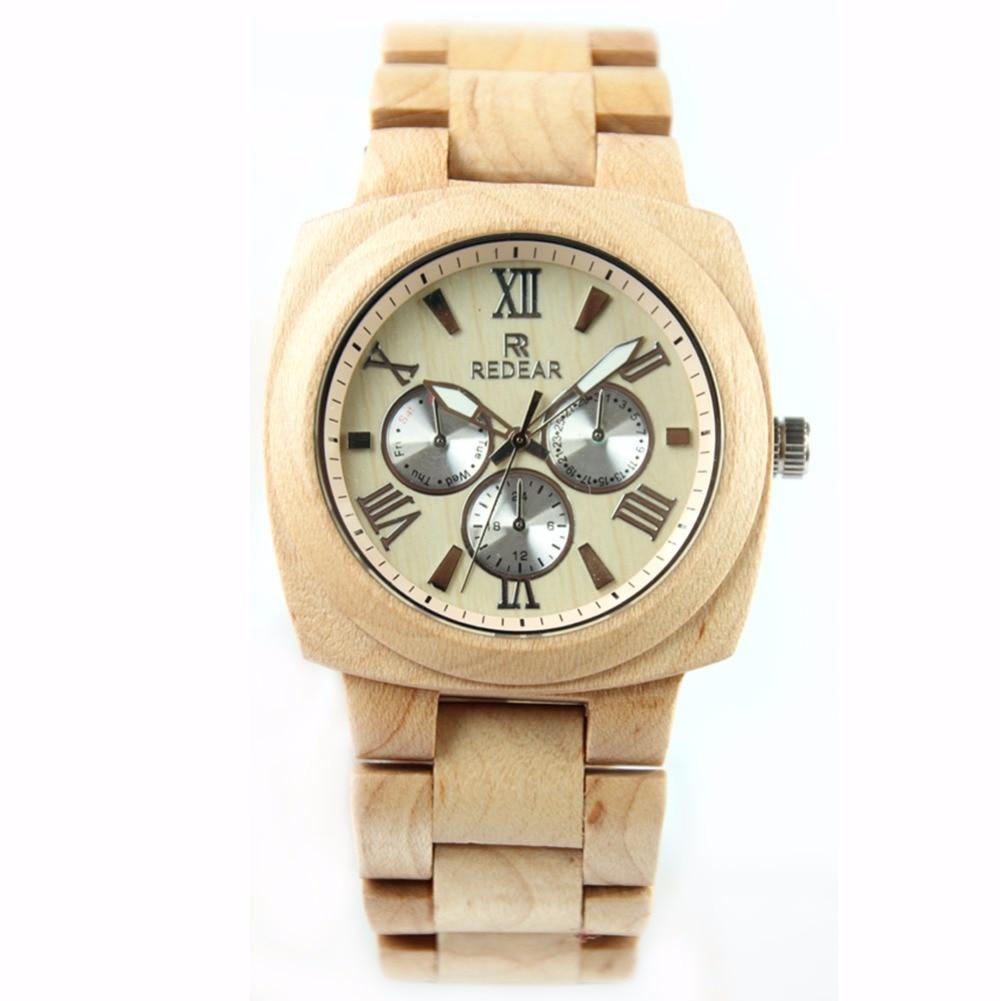 Hot Sale Mens Watch Maple Wood Watch Roman Numerals Wrist Watch <br>