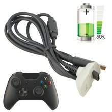 1pcs Wireless Controller Charger Charging Cable Black USB Charge Cord Lead Kit for Microsoft for Xbox for 360 Arrival