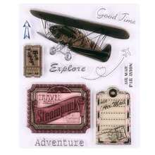 Explore Adventure Air Mail Plane Scrapbook DIY Photo Album Account Transparent Silicone Rubber Clear Stamps(China)