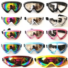 Men Women Ski Snowboard Snowmobile Motorcycle Goggles Dirt Bike Glasses Motocross Off-Road Eyewear Color Lens 14Colors Avaliable
