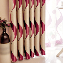 New Top Mediterranean Fringe Red Wine 4 Color Full Blackout Curtains Tulle Polyester Window for Living Room Hot sale-B015