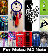 Soft TPU Hard Plastic DIY Printed Mobile Phone Case  Painted For Meizu M2 Note Shell Hood Cover Skin Bags Telephone Booth