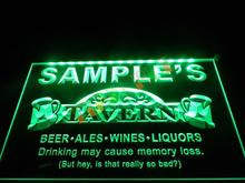 DZ025- Name Personalized Custom Tavern Man Cave Bar Beer   LED Neon Light Sign hang sign home decor shop crafts