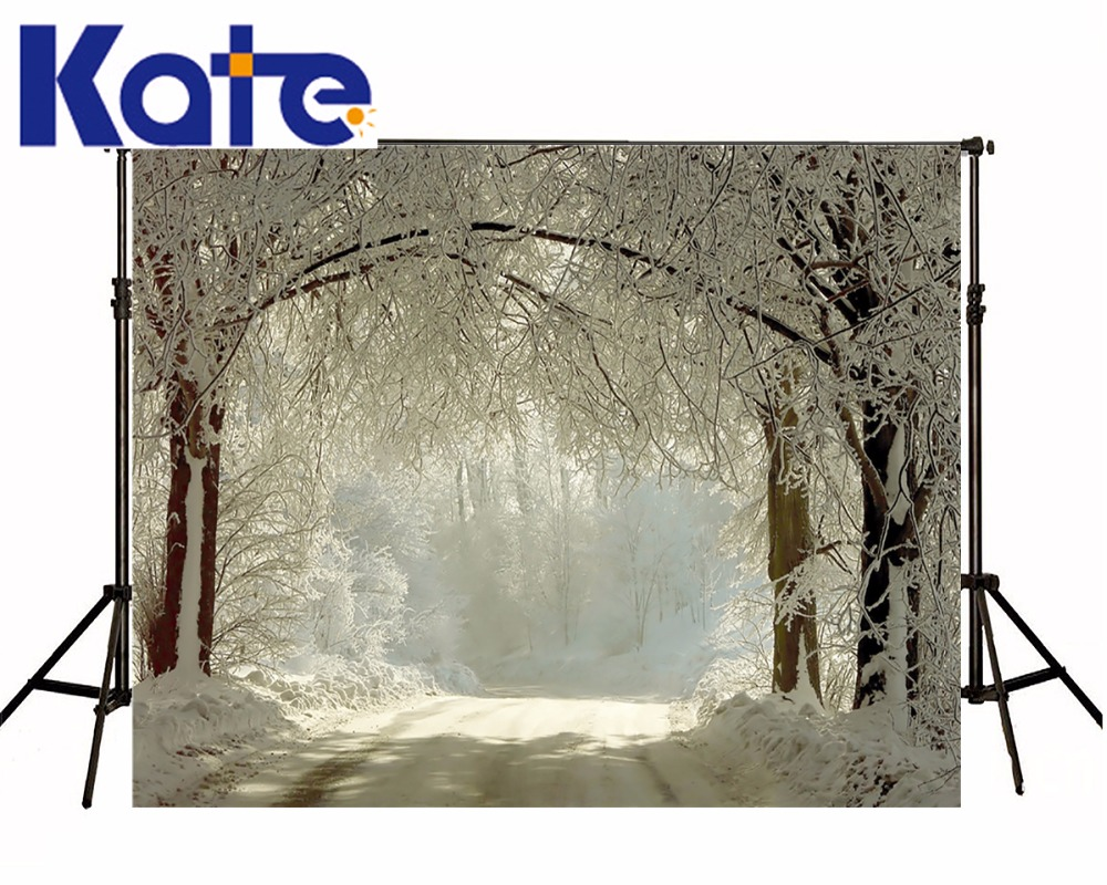 KATE Photography Backdrops 8x8ft Snow Forest Background Winter Photography Backdrops Christmas Backdrop Fairy Tale Forest Photo<br>
